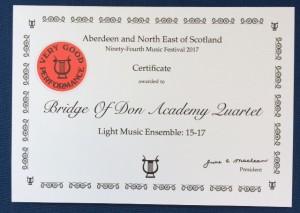 Quartet certificate